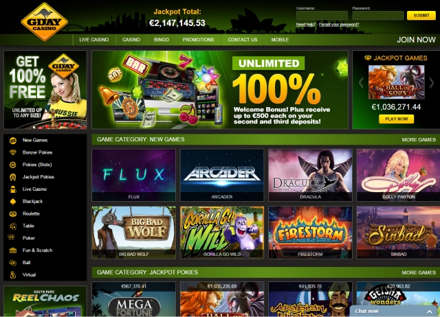 Gday casino recensie