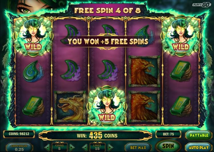 Jade Magician gokkast Play n Go bonus retrigger