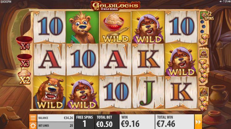 Goldilocks and the Wild bears bonus