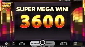 Twin Spin Deluxe Netent super mega win