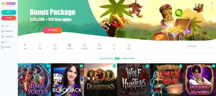 Spinia casino review spelaanbod
